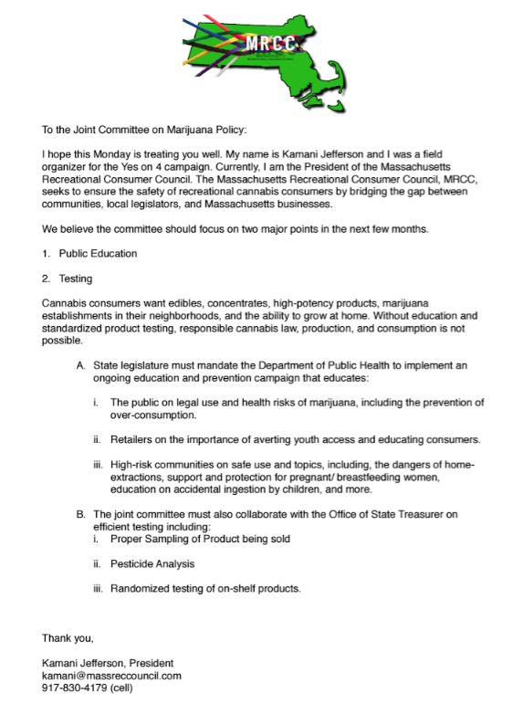 Joint committee on marijuana policy