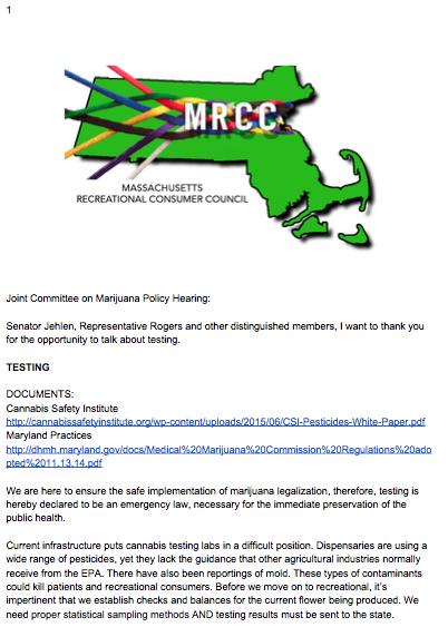 Testing Massachusetts, EPA, DPH, Health, public.